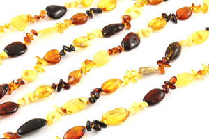 Baltic Amber Multi Bead Necklace multi view