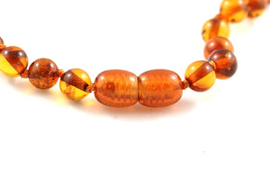5mm Round Baltic Amber Bead Necklace multi view