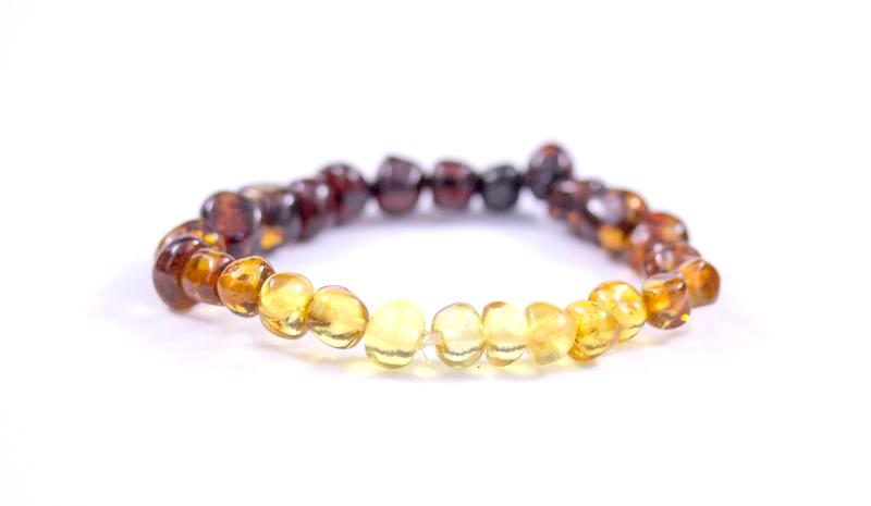 Baltic Amber Rainbow Stretch Bracelet