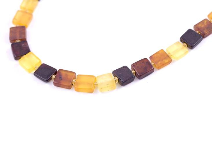 Baltic Amber Square Bead Necklace