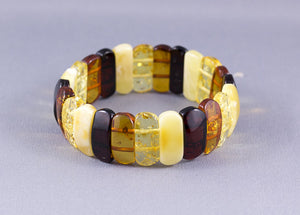 Baltic Amber Expanding Multi Coloured Bracelet