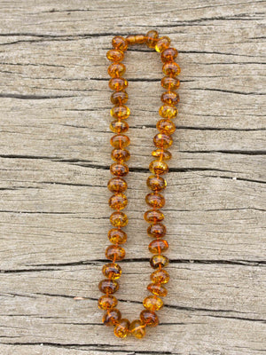 Natural Baltic Amber Large Baroque Bead Necklace