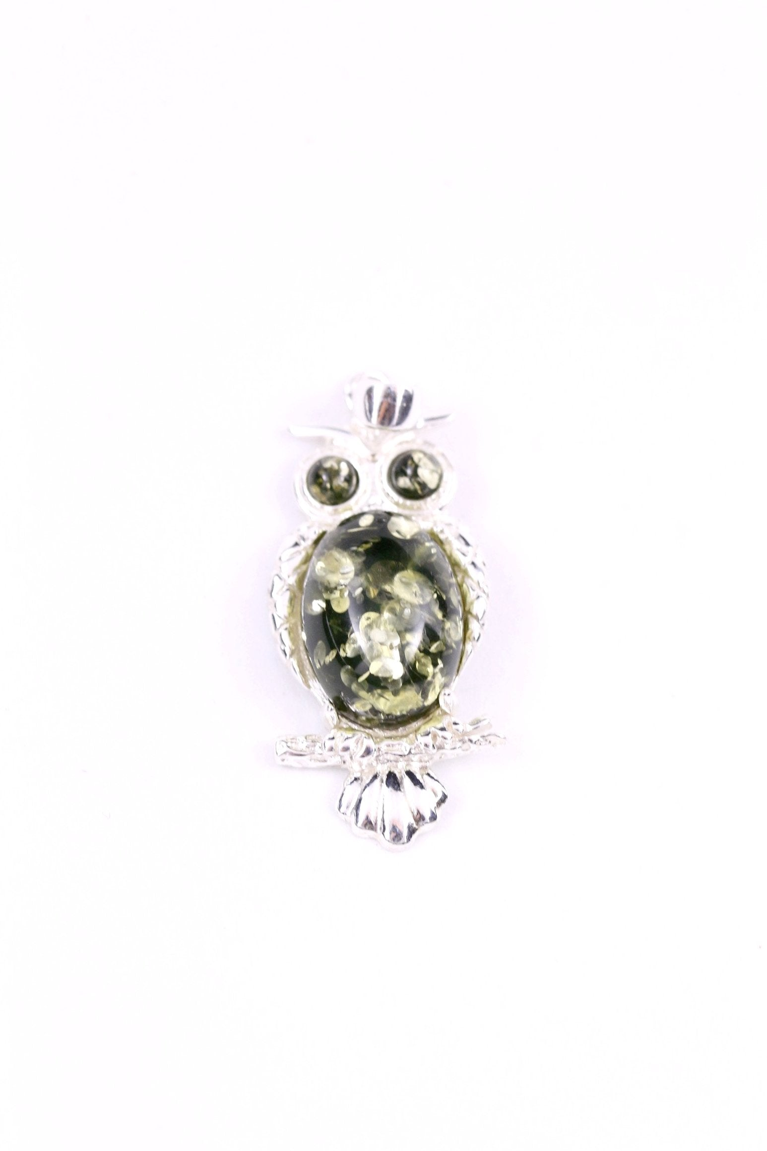 Green baltic amber and sterling silver owl pendant amber tree green baltic amber and sterling silver owl pendant mozeypictures Image collections