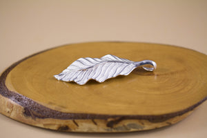 Double-sided Sterling Silver Leaf Pendant