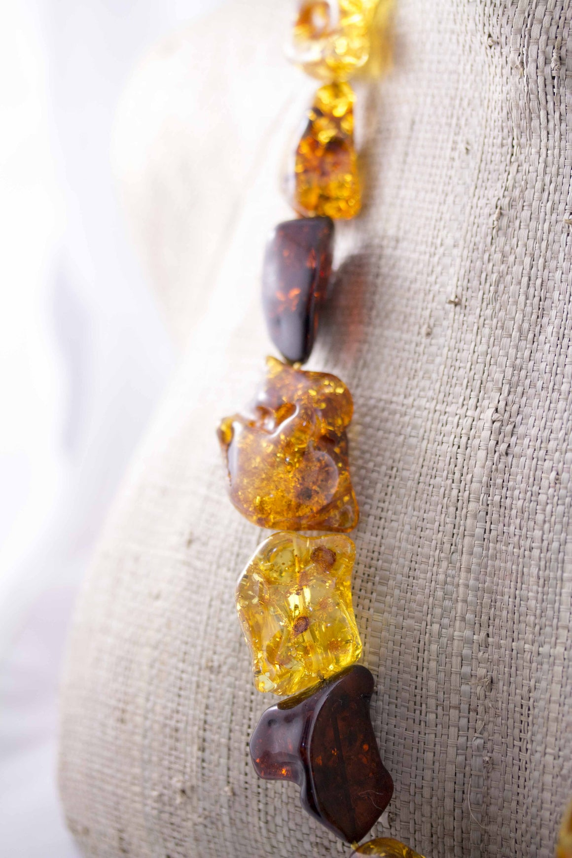 Massive Multi Baltic Amber Freeform Bead Necklace