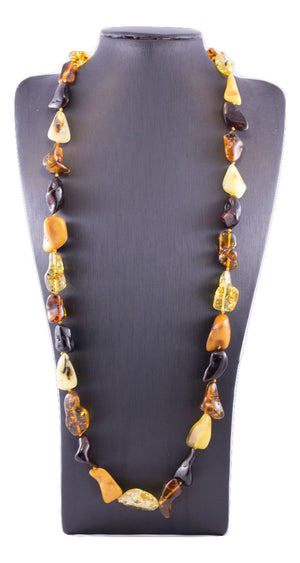 Baroque Baltic Amber Multi Bead Necklace