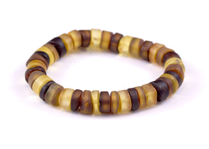 Baltic Amber Multi Tablet Bead Bracelet