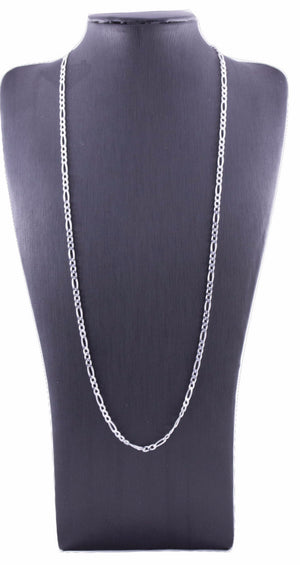 Sterling Silver 3mm Figaro Chain - 60cm