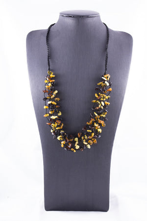 Baltic Amber Multi Bead Chip Necklace