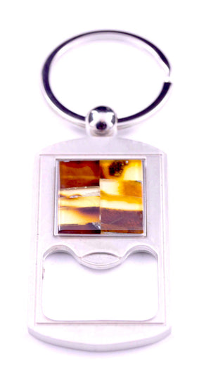 Baltic Amber Key Ring with Bottle Opener
