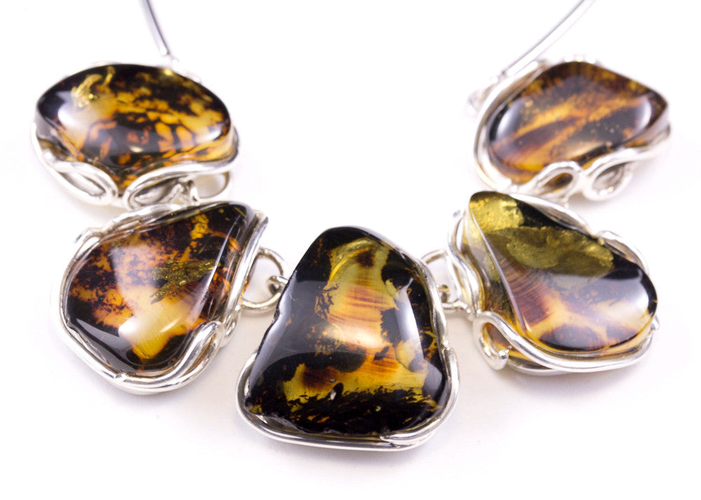 8444cce4c Natural Baltic Amber and Sterling Silver Necklace - Amber Tree