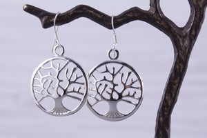 Sterling Silver Tree of Life Earrings Large