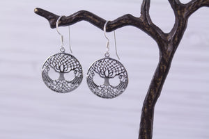Sterling Silver Tree of Life Earrings Large Celtic