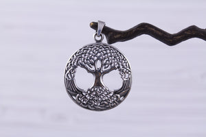 Sterling Silver Tree of Life Celtic Pendant