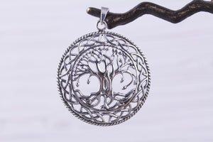 Large Sterling Silver Celtic Tree of Life Pendant