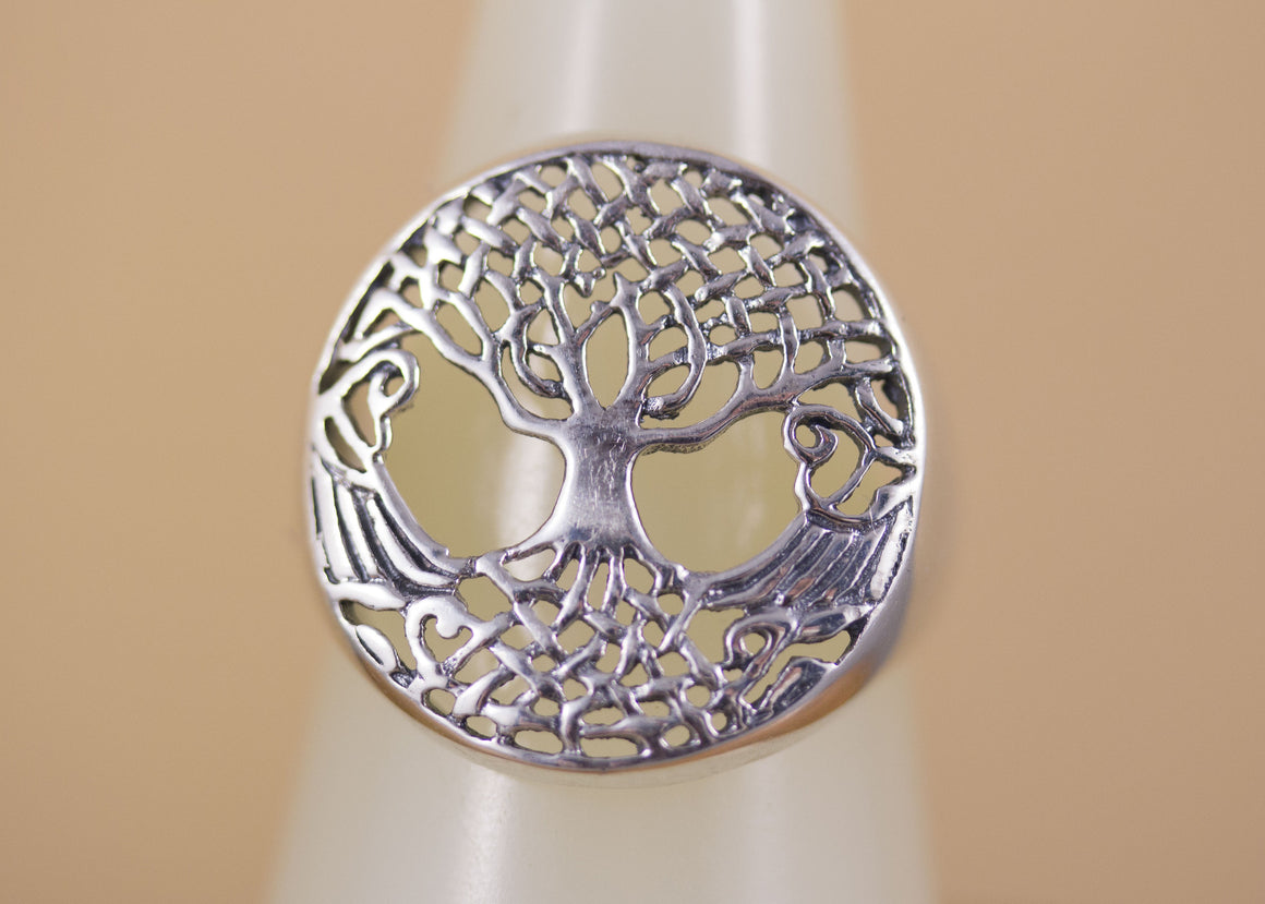 Sterling Silver Tree of Life Celtic Rings