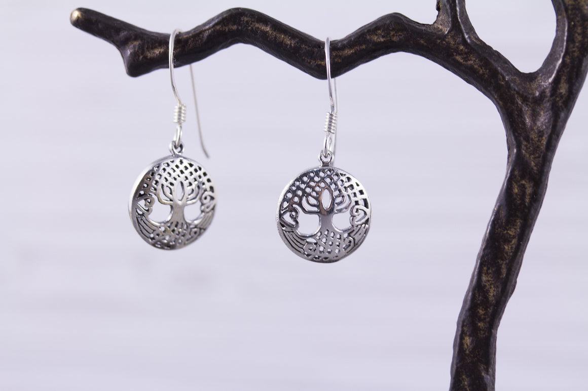 Sterling Silver Tree of Life Celtic Earrings