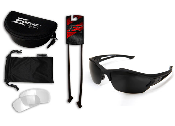Acid Gambit 2 Lens Kit – Soft-Touch Matte Black Frame / Clear Vapor Shield, G-15 Vapor Shield Lenses