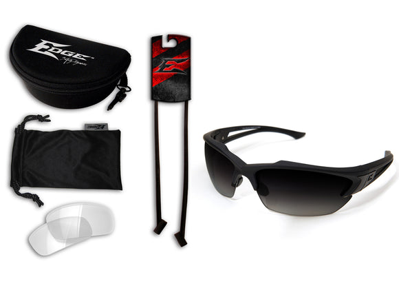 Acid Gambit 2 Lens Kit – Soft-Touch Matte Black Frame / Polarized Gradient Smoke, Clear Vapor Shield Lenses
