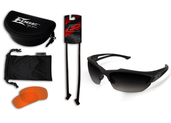 Acid Gambit 2 Lens Kit – Soft-Touch Matte Black Frame / Polarized Gradient Smoke, Tiger's Eye Vapor Shield Lenses