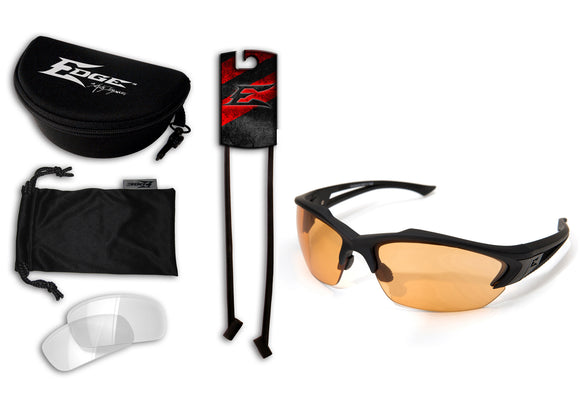 Acid Gambit 2 Lens Kit – Soft-Touch Matte Black Frame / Clear Vapor Shield, Tiger's Eye Vapor Shield Lenses