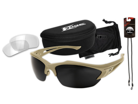 Acid Gambit 2 Lens Kit – Soft-Touch Matte Sand Frame / Clear Vapor Shield, G-15 Vapor Shield Lenses