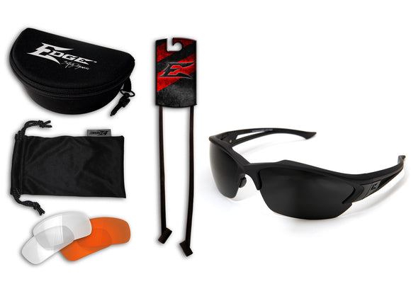 Acid Gambit 3 Lens Kit – Soft-Touch Matte Black Frame / Clear Vapor Shield, Tiger's Eye Vapor Shield, G-15 Vapor Shield Lenses