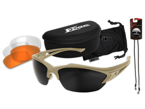 Acid Gambit 3 Lens Kit – Soft-Touch Matte Sand Frame / Clear Vapor Shield, Tiger's Eye Vapor Shield, G-15 Vapor Shield Lenses
