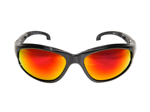 Dakura — Black Frame with Gasket / Aqua Precision Red Mirror Lens ...