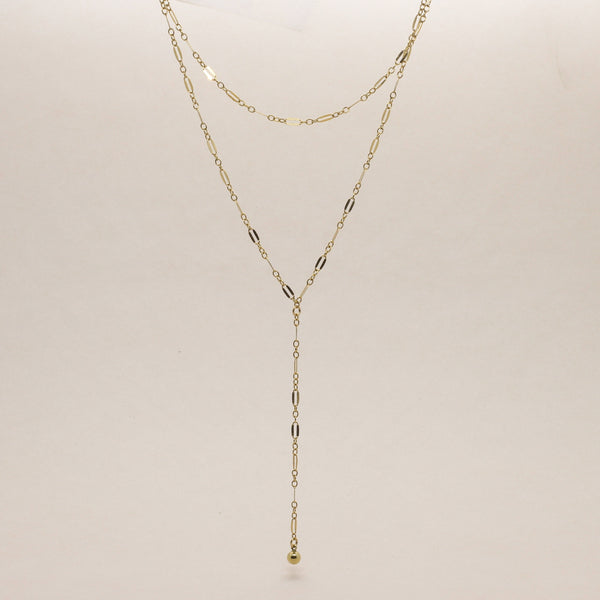 Minimal Lariat Necklace