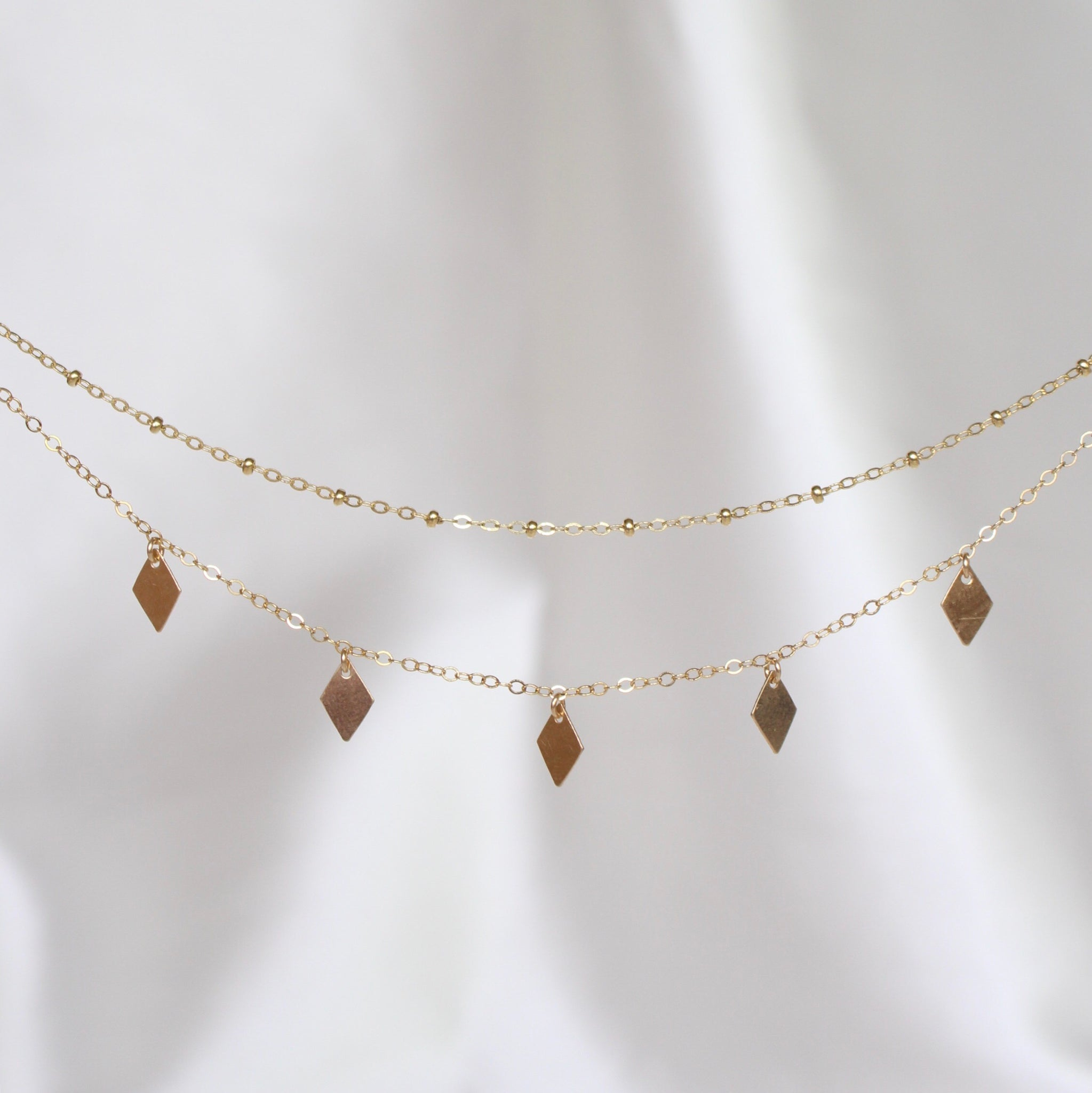 LAYERED DIAMOND NECKLACE
