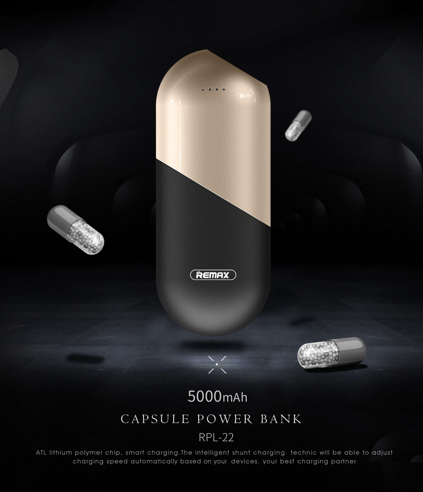 REMAX Official Store -Capsule Power Bank 50000mAh RPP-22