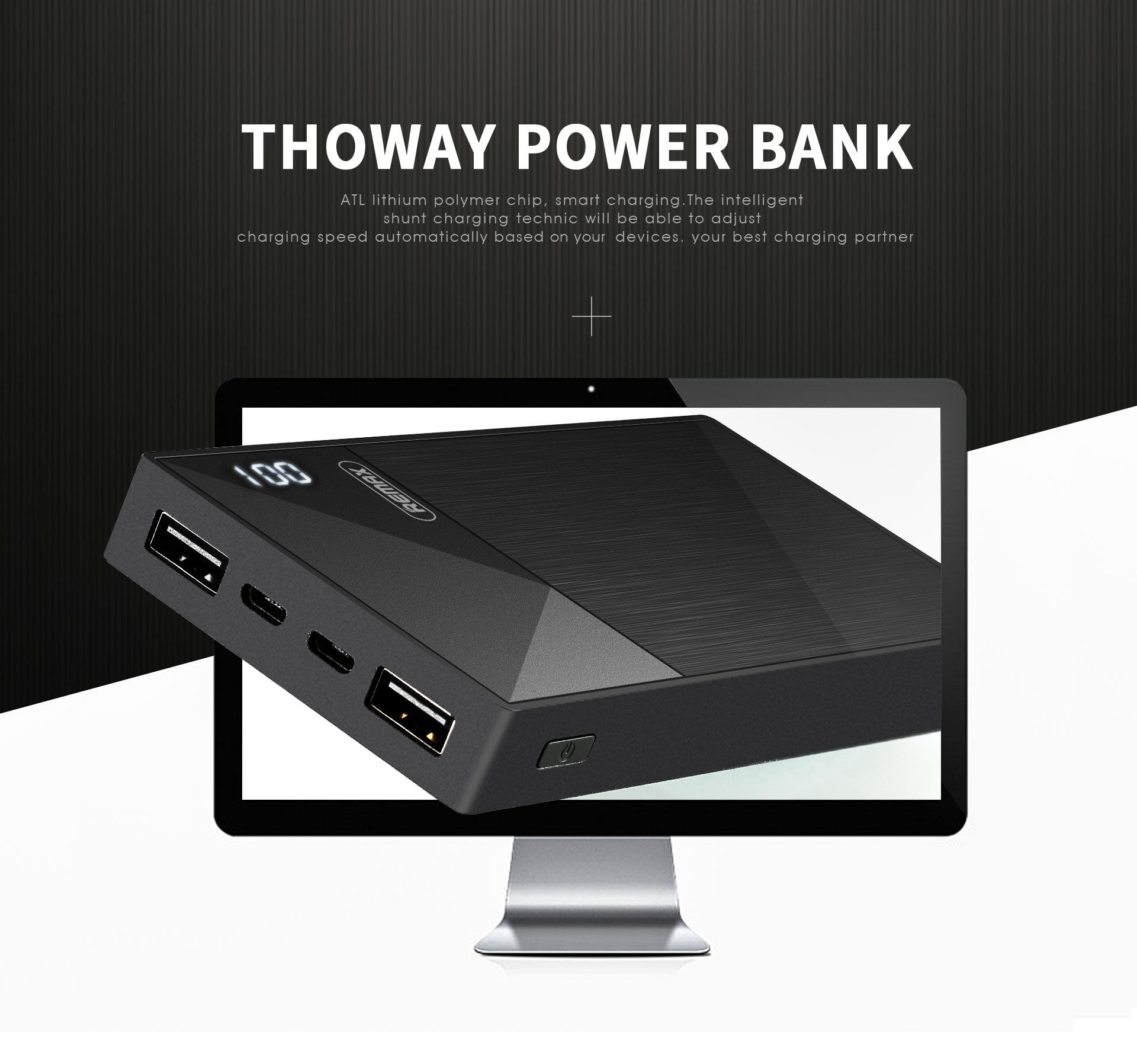 REMAX Official Store -Thoway Power Bank 10000mAh RPP-55