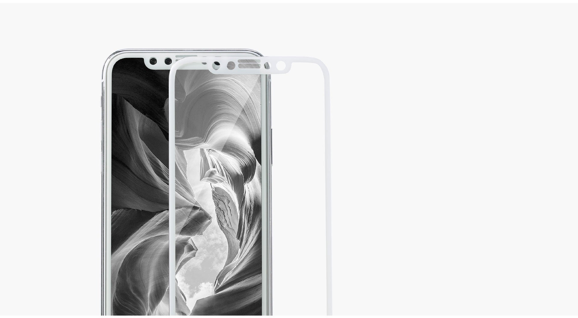 REMAX Official Store - Crystal Set of Case and Tempered Glass iPhone X