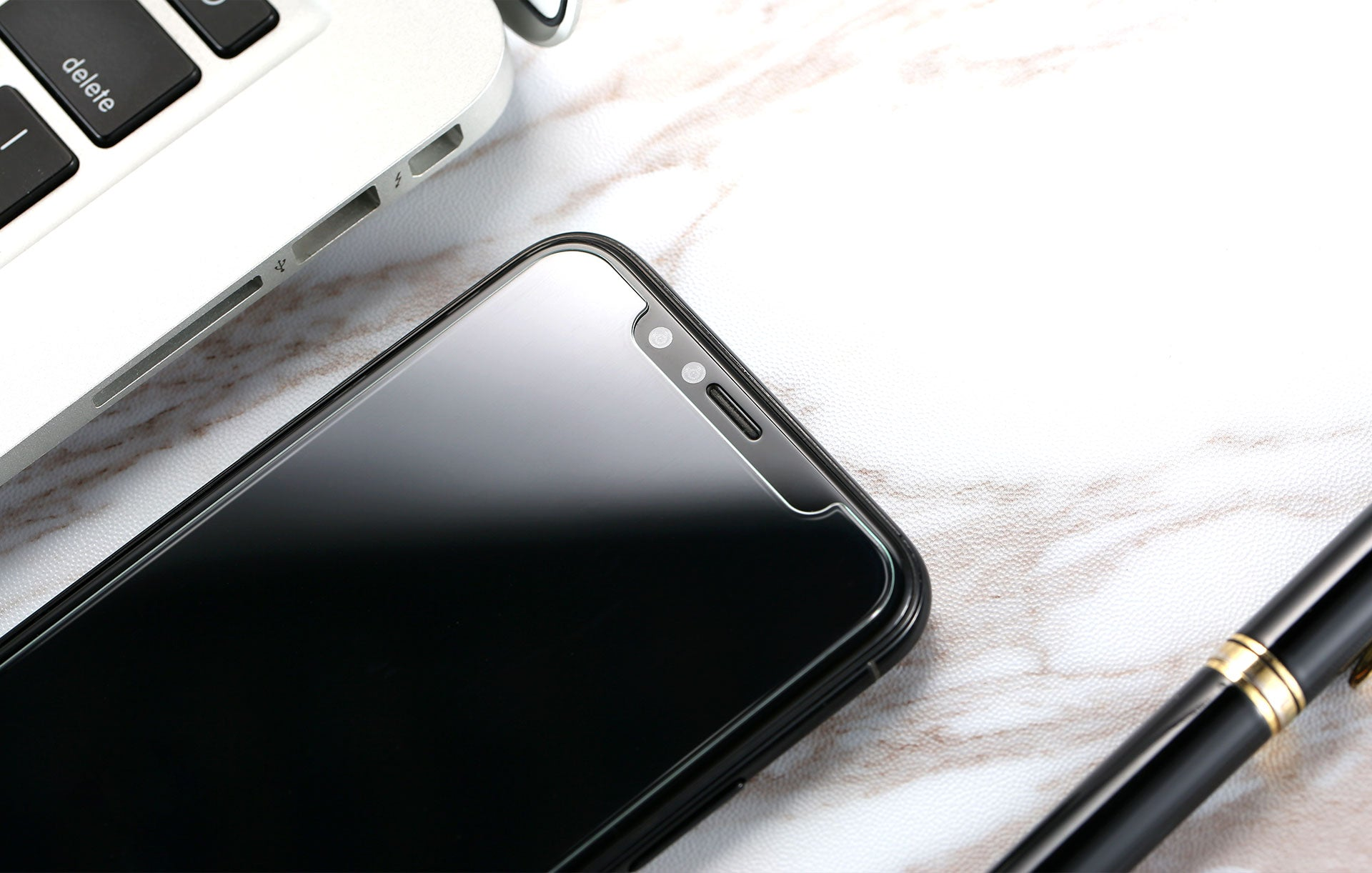 Tempered Glass Round Cut For iPhone X