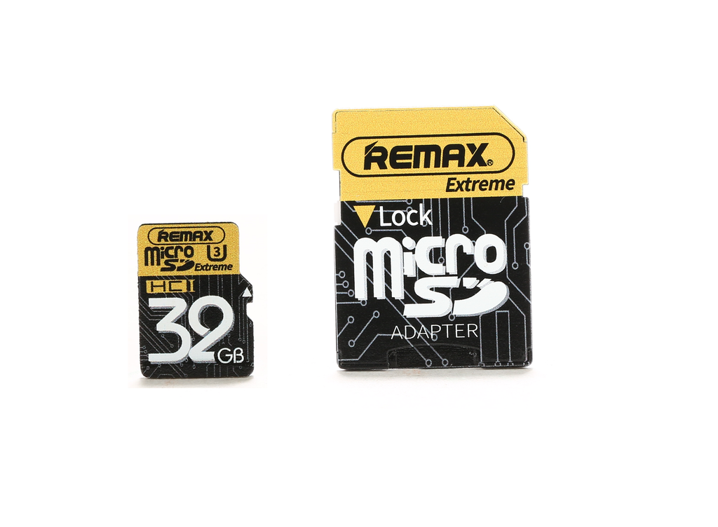REMAX Official Store - Micro SD U3 64GB With Adapter Flash Memory Card