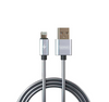 Metal Data & Power Cable for iPhone - Serpent RC-080i - 1 Meter (3.2ft) - REMAX www.iremax.com