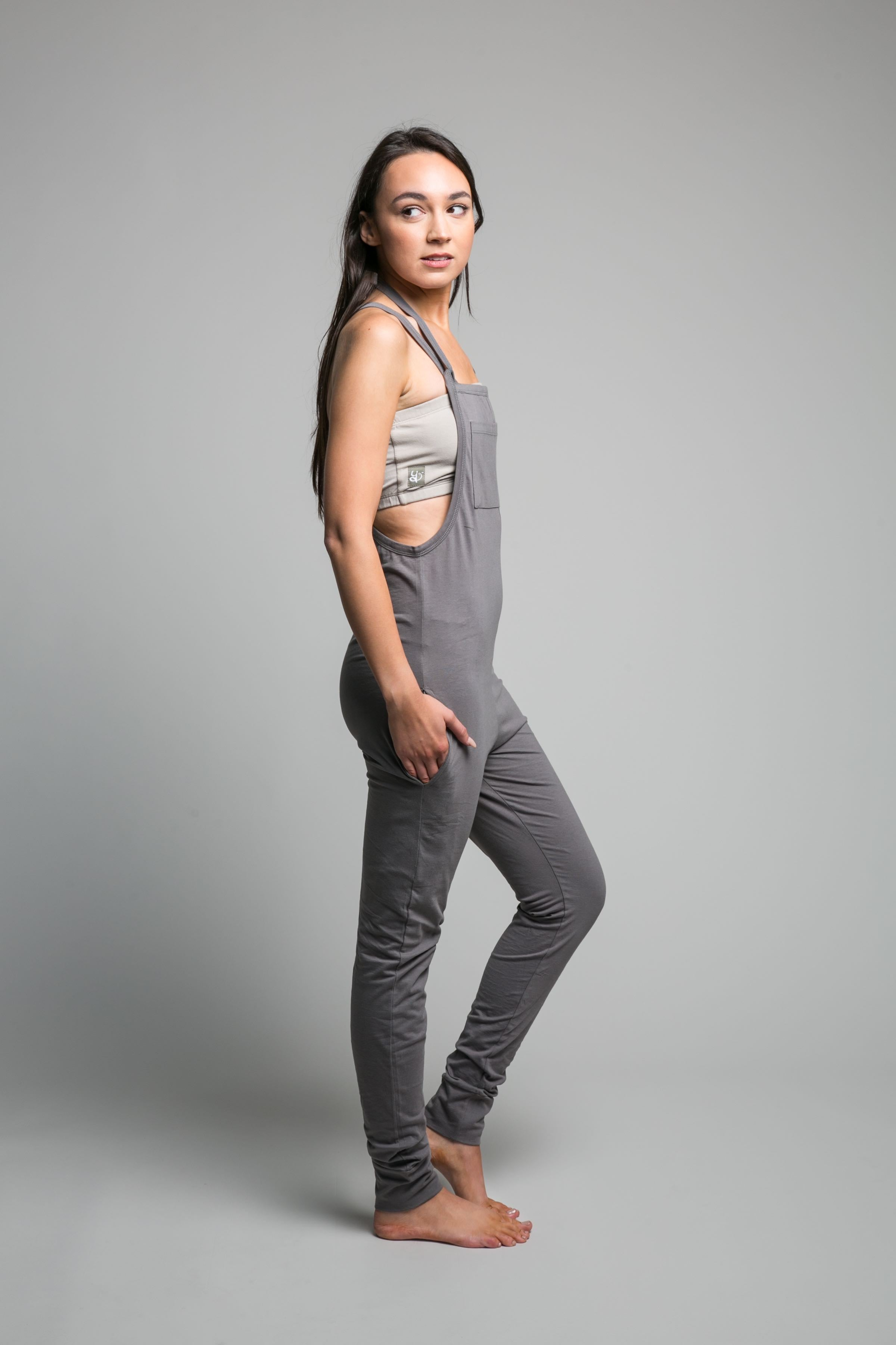 'Mudra' Drop Crotch Yoga Jumpsuit Women's Charcoal