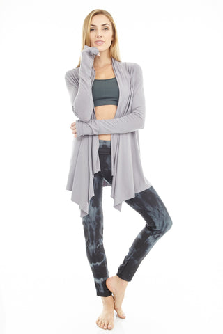 'Mudra' Drop Crotch Yoga Jumpsuit Women's Grey