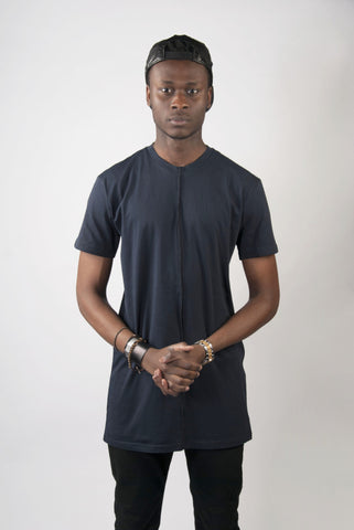 Navy Line Tall Tee | Poket Roket Apparel