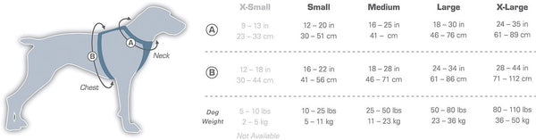 Townie Harness Sizing Chart at CountrysidePet.com