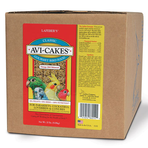 Lafeber Original Avi-Cakes for Small Birds (20 Lb Box) FREE SHIPPING