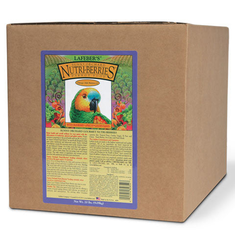 Lafeber Sunny Orchard Nutri-Berries Parrot (20 Lb. Box) - FREE SHIPPING - Countryside Pet Supply - 1