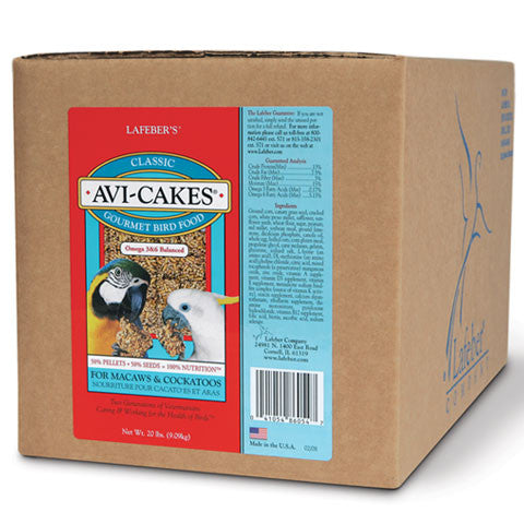 Lafeber Avi-Cakes for Macaws & Cocatoos (20 Lb Box) - Countryside Pet Supply - 1