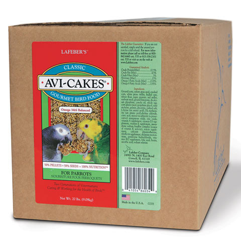Lafeber Avi-Cakes for Parrots (20 Lb Box) - Countryside Pet Supply - 1