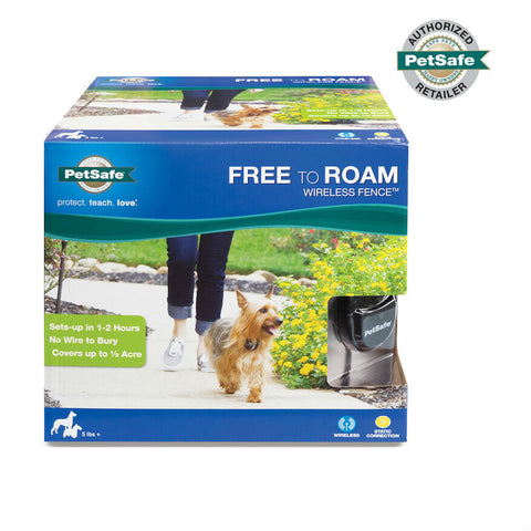 PetSafe Free to Roam Wireless Pet System Packaging - FREE SHIPPING