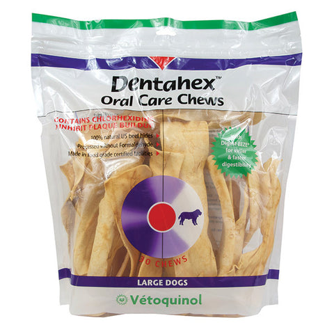 Vetoquinol Dentahex Oral Care Chews for Dogs - CHOOSE SIZE