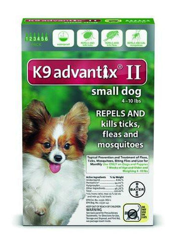 K9 Advantix for Small Dogs 4-10 lbs. - 6 pack