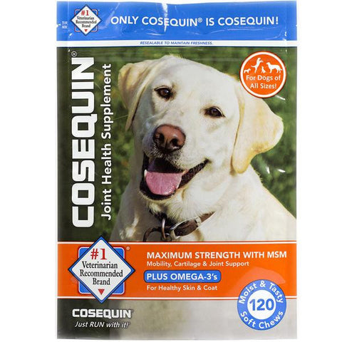 Cosequin DS Maximum Strength Soft Chews w/MSM & Omega-3's for Dogs - Countryside Pet Supply