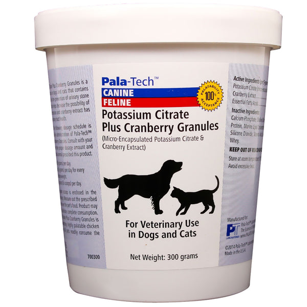 Pala-Tech Potassium Citrate Plus Cranberry Granules - 300 Grams